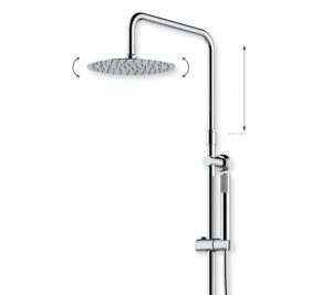 Shower System - white/chrome Ocean - 2010-00