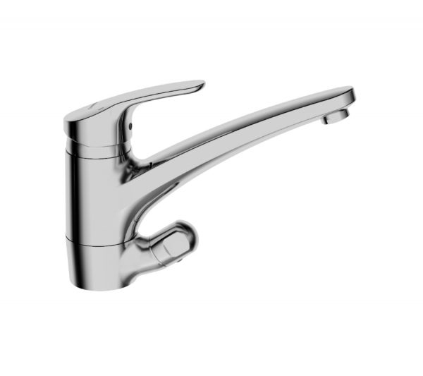 Kitchen faucet with dishwasher valve